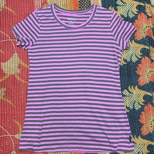 Columbia Striped Olive Pink Top Shirt